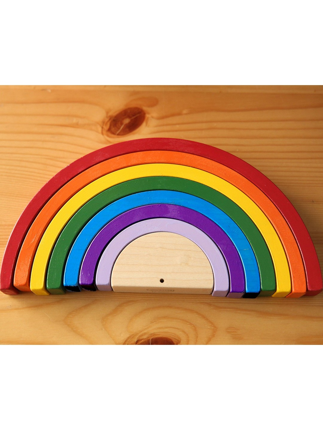 8.75 x 4.25 inch Wooden Rainbow Stacker Montessori Toy, Montessori Rainbow, Montessori Toys, Wooden Toys New Baby Gift, Made in Canada