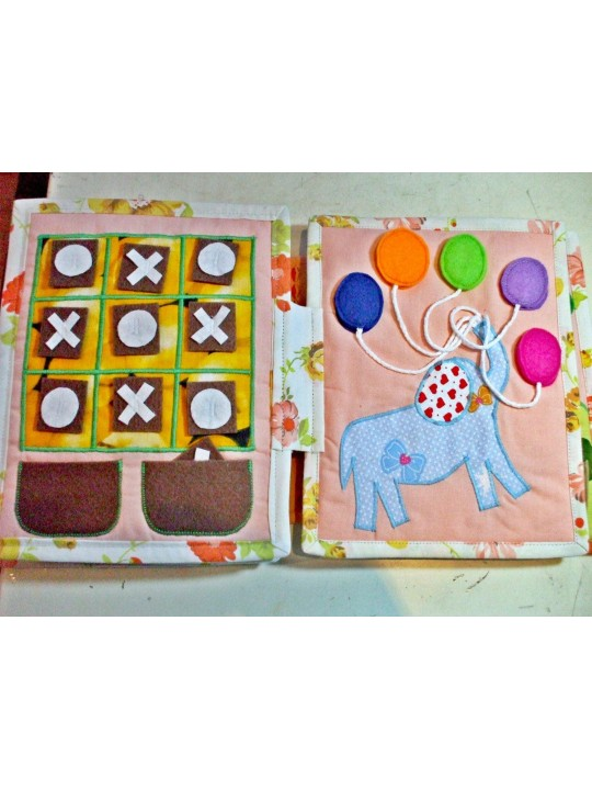 Quiet book,activity book for boys and girls,educative gift for birthday party and baby shower.