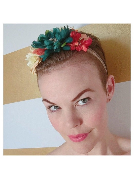 Handmade // One Size // OOAK Floral Headband // Flower Headpiece // Photo Prop // One of a Kind // Bridal // Baby // Vintage Jewelry